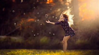 Children Wallpapers Bubbles Field Playing Olson Jake