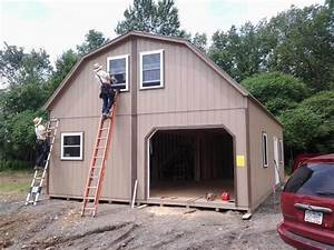 the amish group cabins With amish garages built on site