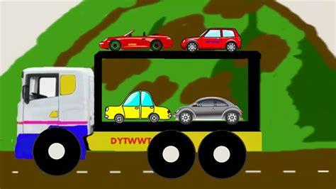 animasi mobil truk besar