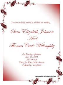 free wedding templates free wedding invitation template page word excel pdf