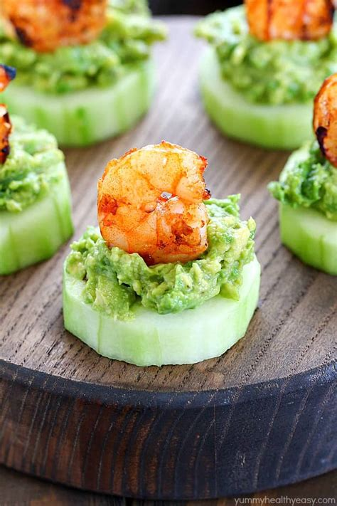low carb avocado shrimp cucumber appetizer yummy healthy