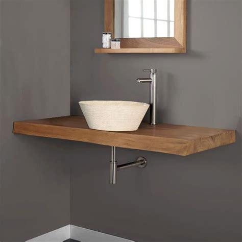 plan de travail teck salle de bain plan de travail de salle de bain en teck massif achat vente plan de travail plan de travail