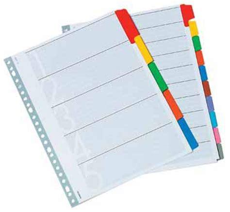 classex numerieke tabbladen  uit wit karton  gm set    gaatsperforatie eska office