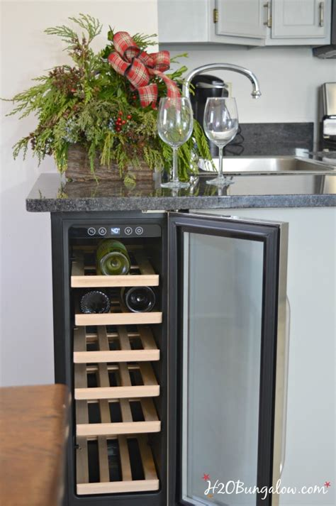 wine cooler in kitchen cabinet diy built in wine cooler h20bungalow 1907