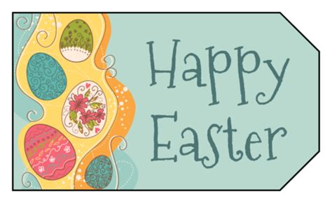 Easter Name Tags Template by Easter Labels Easter Label Designs