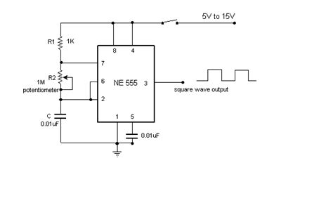 Variable Astable Frequency Oscillator Under