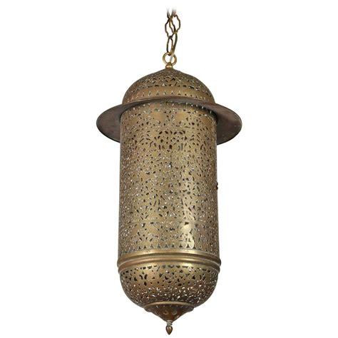 vintage moroccan brass filigree pendant light fixture