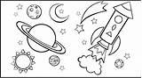 Galaxy Coloring sketch template