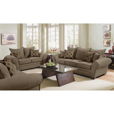 two sofa living room rendezvous sofa and loveseat set olive value city