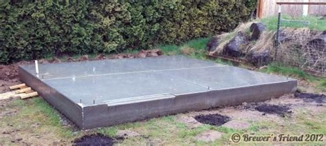 shed concrete slab thickness brew shed slab is poured brewer s friend