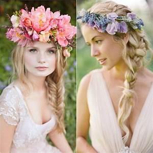 Couronne De Fleurs Mariage Petite Fille : coiffure mariage facile selon la longueur des cheveux pour tre sublime ~ Dallasstarsshop.com Idées de Décoration
