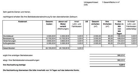 Wohnen Betriebskostenabrechnung by Nebenkosten Und Mehrwertsteuer Wie Abrechnen