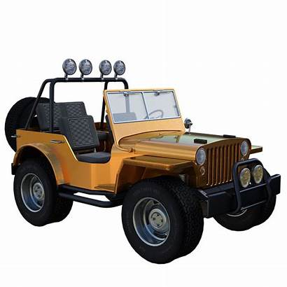 Jeep Vehicle 3d Drive Offroad Tires Lights
