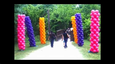 balloon arches  column ideas youtube