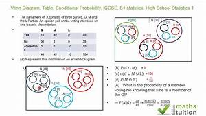 Venn Diagram  Table  Conditional Probability  Mutually