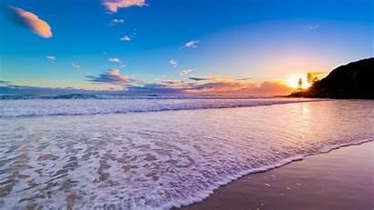 Sunrise Desktop Beach Waves Virgin Wallpapers Desktopwalls