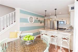 see this nautical inspired kitchen from beach flip beach With kitchen colors with white cabinets with seashell stickers