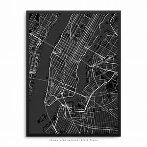 New York City New York Poster – City Map Decor