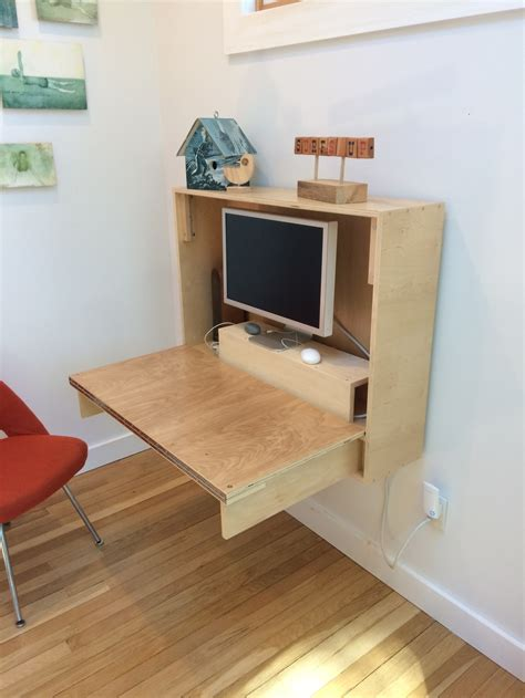 fold  wall desk crafted