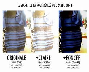 le secret de la robe bleue et noire blanche et or With robe or et blanche