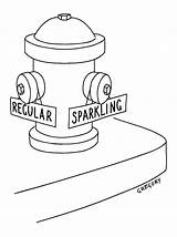 Fire Hydrant Drawing Regular Alex Cartoon Captionless Gregory Sparkling Water sketch template
