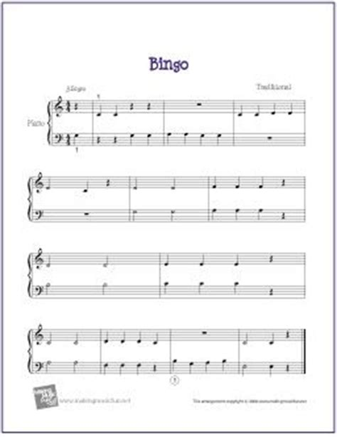 Banana Boat Jingle Lyrics by Bingo Free Sheet For Easy Piano Http