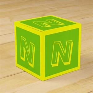 letter n building block box by janz building building With building letter blocks