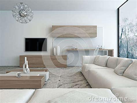 salon blanc moderne avec les meubles en bois illustration stock illustration du le lumi 232 re