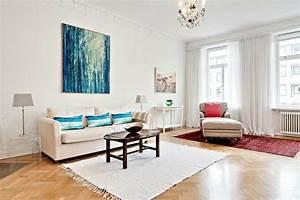 deco murale salon 27 idees pour les interieurs blancs With decoration murale moderne salon
