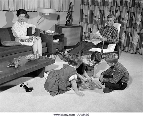 Playing Board Game 1960s Stock Photos And Playing Board Game