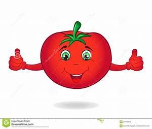 Cartoon Tomato Vector Illustration | CartoonDealer.com ...