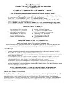 resume general manager auto dealership derengowski resume