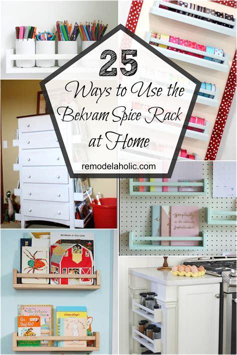 remodelaholic  ways   ikea bekvam spice racks  home