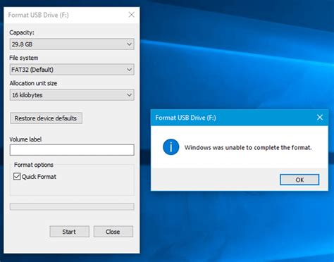 """Being a small storage disk, it can store gigabytes of data. How to Fix the """"Windows was unable to complete the format"""" Error on Windows 10 