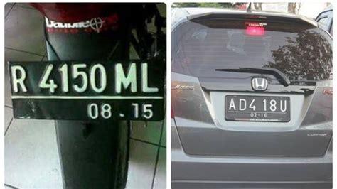 Kendaraan Lucu Dan Unik by 14 Plat Nomer Kendaraan Unik Dan Lucu Di Indonesia