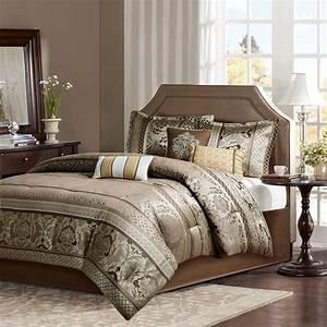 King, Bellagio, 7, Pc, Jacquard, Comforter, Set, Micro, Fiber