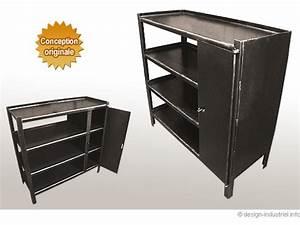 Petit Meuble Industriel : meuble ~ Teatrodelosmanantiales.com Idées de Décoration