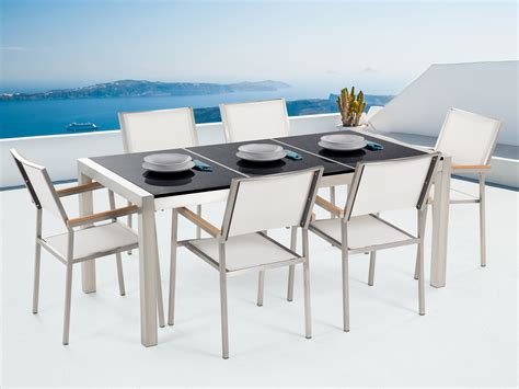 garden table and chairs dining set 6 seater