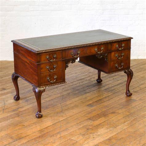 vintage mahogany desk chippendale style mahogany writing desk b 030 la82724 3242