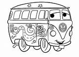 Coloring Vw Camper Library Bus Clip sketch template