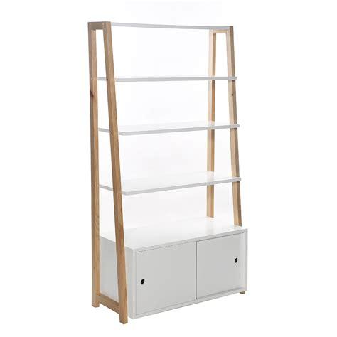 caisson bureau blanc etagère bibliothèque 4 tablettes stan 86 x 160 cm blanc