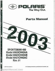 2003 Polaris Sportsman 400 Parts Manual