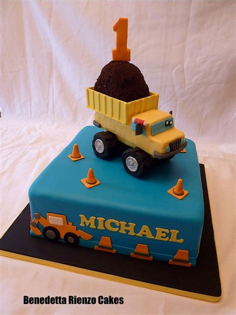 dump truck construction  birthday cake cake
