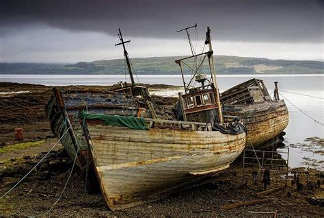 Boat Covers Scotland by Scotland Three Boats On Shore Photograph By John Short