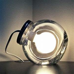 Capture the childhood wonder of lightning bugs in a bottle for Glass jar floor lamp