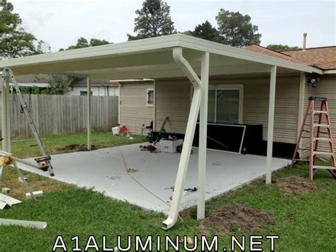 aluminum patio cover ivory in houston 187 a 1