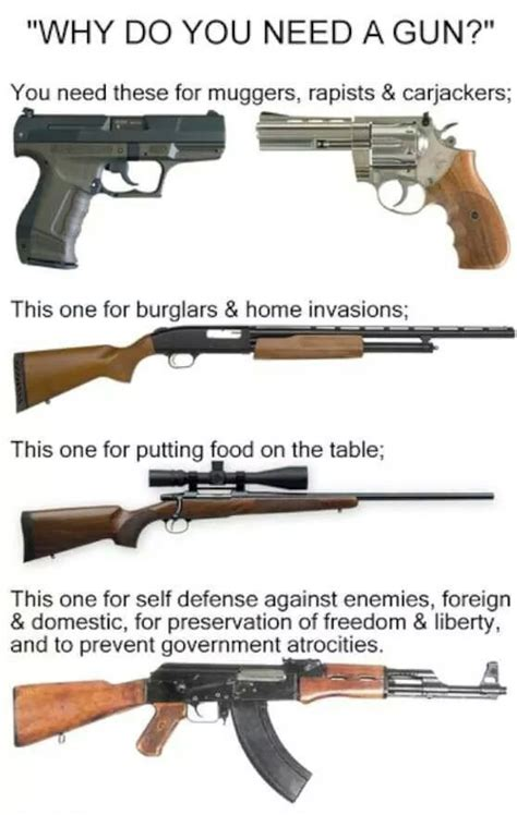 """""""why You Need A Gun"""" Infographic Explains The 2nd Amendment"""