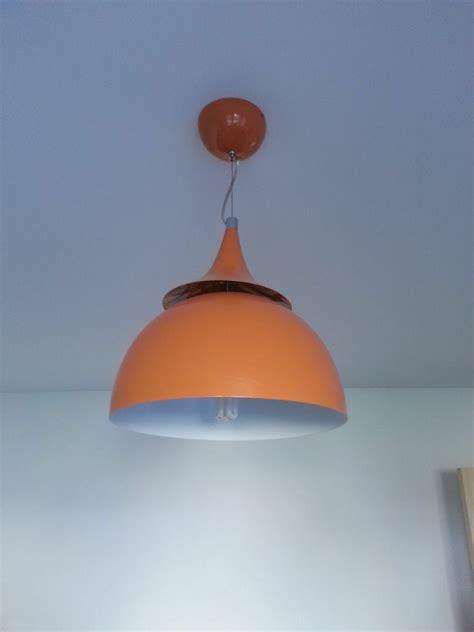ex bhs retro orange metal ceiling light in aberdeen