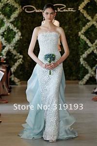 new arrival aqua sheath white lace chiffon 100 handmade With high fashion wedding dress