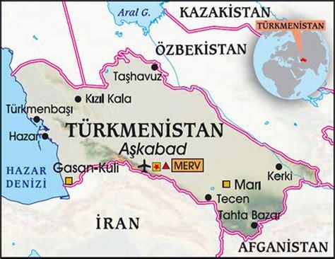 Türkmenistan Haritası, türkmenistan siyasi ve fiziki ...